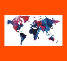 Map of The World 9 -Colorful Abstract Art Kids Clothes