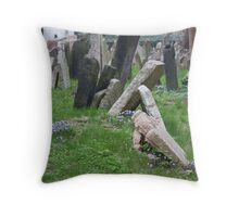 Bluebells and Graves Throw Pillow