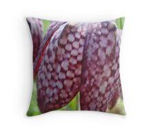 Purple Snake's Head Throw Pillow