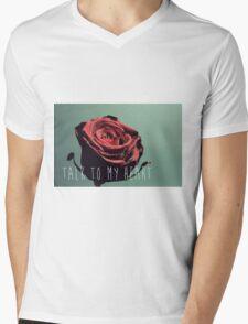 Talk To My Heart Mens V-Neck T-Shirt