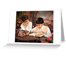 Boys Reading Greeting Card