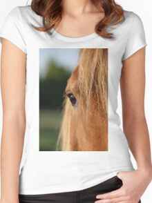 Eyes to behold! Women's Fitted Scoop T-Shirt
