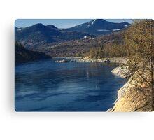 """Columbia River- British Columbia, Canada Canvas Print"