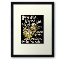 SPECIAL WEAPONS, SOLID SHELL OF HATE Framed Print