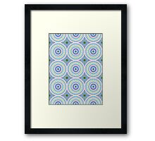 Blue, Pink and Green Abstract Medallion Design  Framed Print