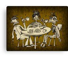 zombie tea party  Canvas Print