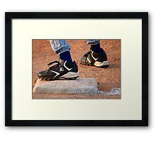 First Base Framed Print