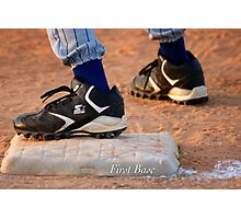 First Base Photographic Print