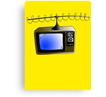 Fan of TV - Retro TV - Television - Some of you may not have seen one of these!! Canvas Print