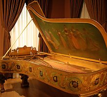 A Grand White House Piano by Cora Wandel