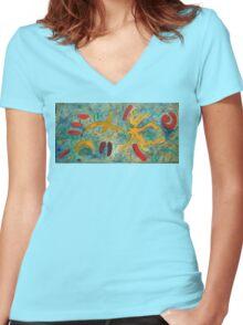 Mat 4 Women's Fitted V-Neck T-Shirt