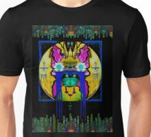 Lady Panda with hamsa and lovable  luck. Unisex T-Shirt