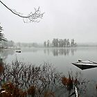 Beaver Pond - Light April Snow -- Bridgton,  Maine by T.J. Martin