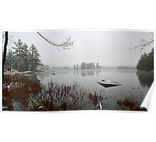 Beaver Pond - Light April Snow -- Bridgton,  Maine Poster