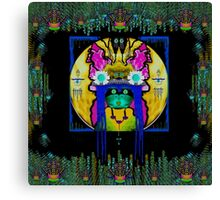Lady Panda with hamsa and lovable  luck. Canvas Print