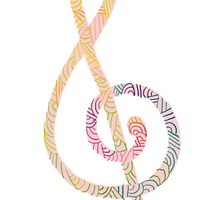 Treble Clef No.1 by Stitchedcresent