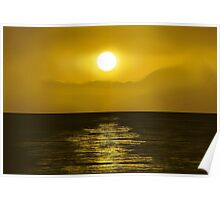 Yellow Sunset Poster