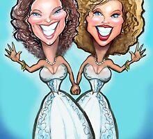 Lesbian Wedding Cake Dolls by Kevin Middleton