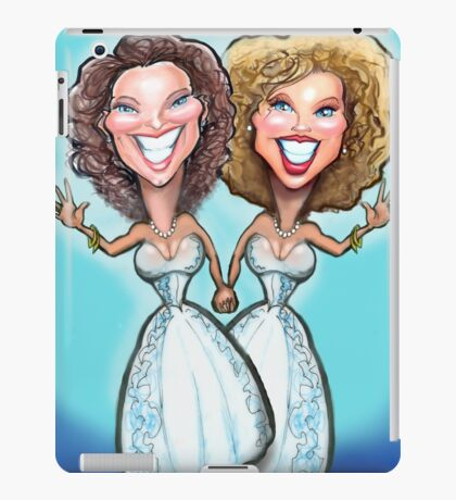 Lesbian Wedding Cake Dolls iPad Case/Skin