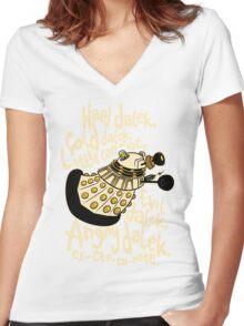 Hard Dalek (Soft Kitty Parody) Women's Fitted V-Neck T-Shirt