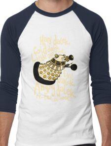 Hard Dalek (Soft Kitty Parody) Men's Baseball ¾ T-Shirt