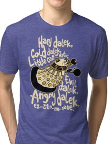 Hard Dalek (Soft Kitty Parody) Tri-blend T-Shirt