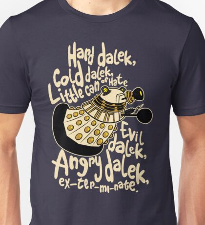 Hard Dalek (Soft Kitty Parody) Unisex T-Shirt