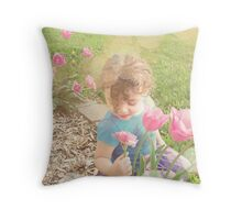 she carries the scent of dreams just beginning... Throw Pillow