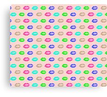 psychedelic lips Canvas Print