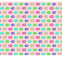psychedelic lips Photographic Print