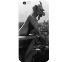 BW France Paris Notre Dame Cathedral the devil 1970s iPhone Case/Skin