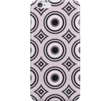 Pink and Black Abstract Medallion Design iPhone Case/Skin