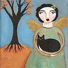 Autumn Angel & Cat by Ryan Conners