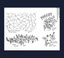 New Sample Book of Our Artistic Perforated Parchment Stamping Patterns Kate Greenaway, John Frederick Ingalls 1886 0138 Kids Tee