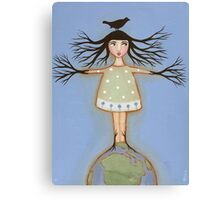 Earth Day Girl Canvas Print