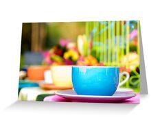 Tea in wonderland Greeting Card