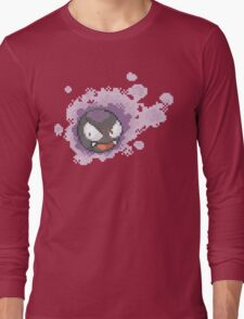 Gastly - pixel art Long Sleeve T-Shirt