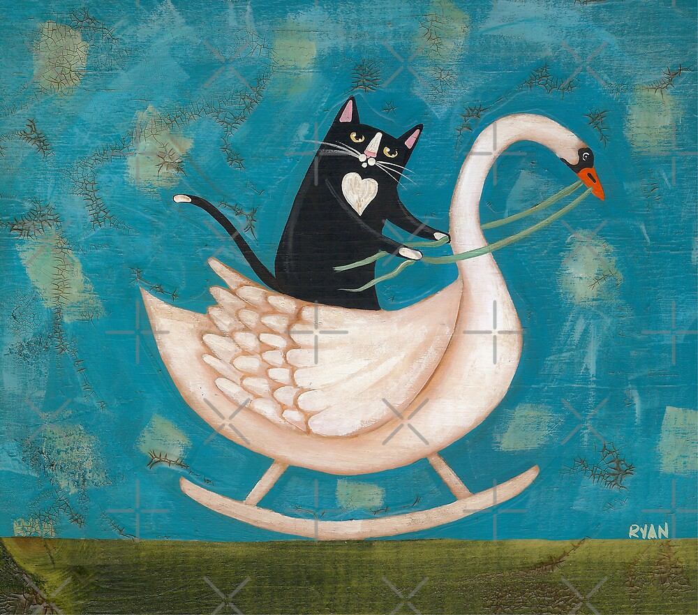 Cat on a Rocking Swan by Ryan Conners
