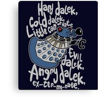 Little Can of Hate (Movie Dalek) Canvas Print