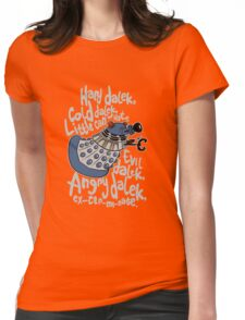 Little Can of Hate (Movie Dalek) Womens Fitted T-Shirt