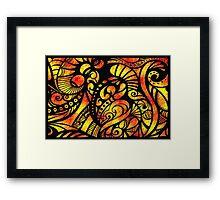 Flame Dancer Framed Print