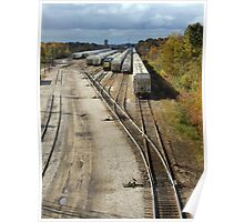 Railroad Switchyard Poster
