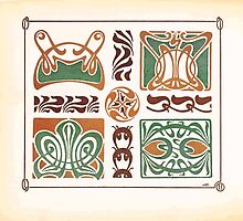 Maurice Verneuil Georges Auriol Alphonse Mucha Art Deco Nouveau Patterns Combinaisons Ornementalis 0010 by wetdryvac