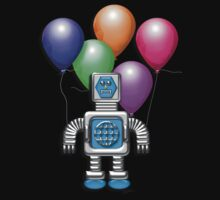 Robot With Balloons by Cherie Balowski