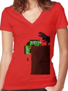 The Lost World: Jurassic Park Cliff Hanger  Women's Fitted V-Neck T-Shirt