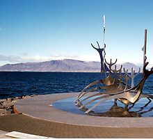 Viking ship, Reykjavik, Iceland by Margaret  Hyde