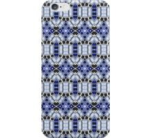 Black, Blue and White Abstract Design Pattern iPhone Case/Skin