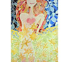 Girl is the Garden Photographic Print