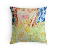 Girl is the Garden Throw Pillow