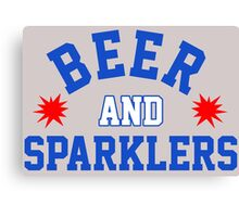 Beer and Sparklers Canvas Print